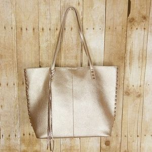 Mix No. 6 NWOT Gold PU/Leather Tote